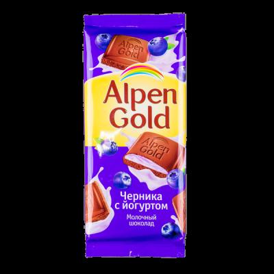 шоколад Альпен Гольд Черника Йогурт 85 г 1 уп.х 21 шт.