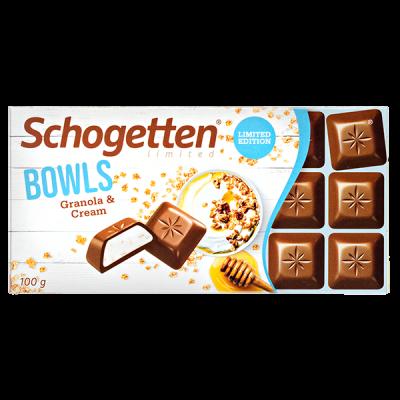 шоколад SCHOGETTEN Bowls Granola&Cream 100 г 1уп. х 15шт.