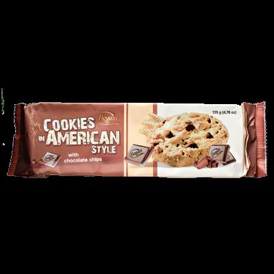 печенье Bogutti AMERICAN STYLE с шоколадной крошкой 135 г 1 уп.х 18 шт.