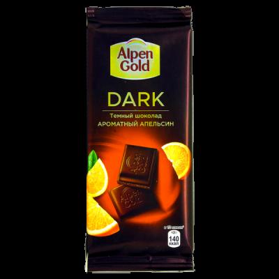 шоколад Альпен Гольд Дарк Ароматный Апельсин 85 г 1 уп х 21 шт