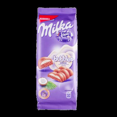 шоколад Милка Баблс Кокос 92 г 1 уп.х 16 шт.