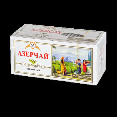 чай АЗЕРЧАЙ Черный с чабрецом 25 пакетиков с конвертом 1 уп.х 24 шт.