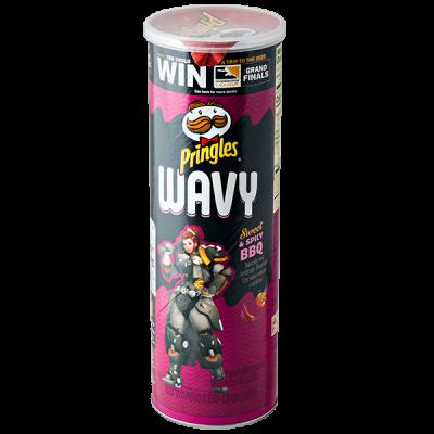 чипсы PRINGLES WAVY Sweet & Spicy BBQ 137 г 1 уп. х 8 шт.