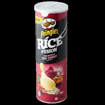 чипсы PRINGLES RICE Malaysian red curry 160 г 1 уп. х 9 шт.