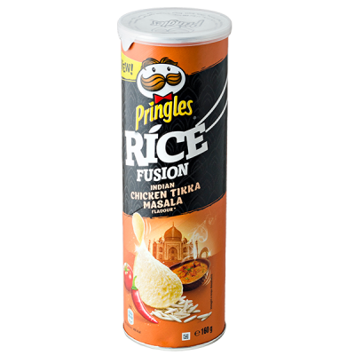 чипсы PRINGLES RICE Indian chicken tikka masala 160 г 1 уп. х 9 шт.