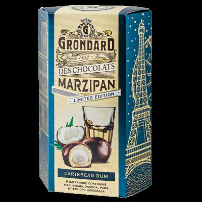 конфеты GRONDARD МАРЦИПАН с кокосовой начинкой и ромом 140 г 1 уп. х 10 шт.
