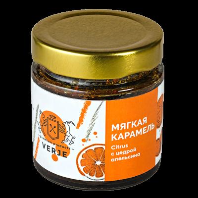 мягкая карамель VERJE с цедрой апельсина 200 г.