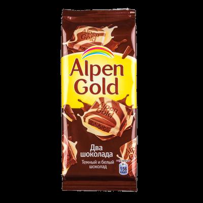 шоколад Альпен Гольд Два Шоколада 90 г 1 уп.х 20 шт.
