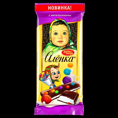шоколад Аленка с веселинками 87 г 1уп.х 10 шт.