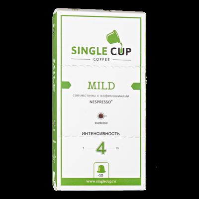 кофе капсулы SINGLE CUP MILD 1упх 10 капсул