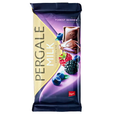 шоколад PERGALE MILK FOREST BERRIES 100 г 1 уп. х 19 шт.