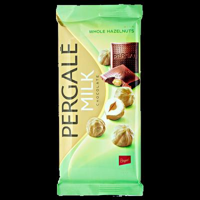 шоколад PERGALE MILK WHOLE HAZELNUTS 100 г 1 уп. х 15 шт.