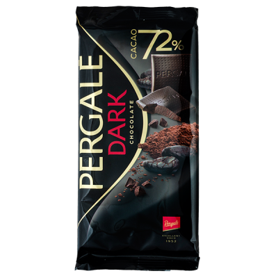 шоколад PERGALE DARK 72% 100 г 1 уп. х 19 шт.