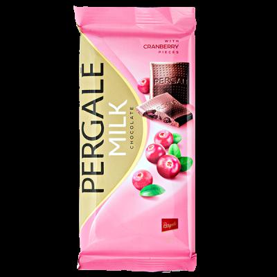 шоколад PERGALE MILK CRANBERRY 100 г 1 уп. х 19 шт.
