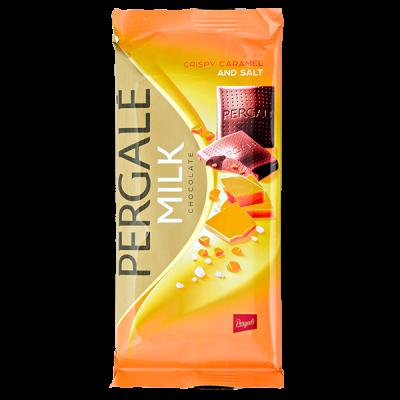 шоколад PERGALE MILK CRISPY CARAMEL AND SALT 100 г 1 уп. х 19 шт.