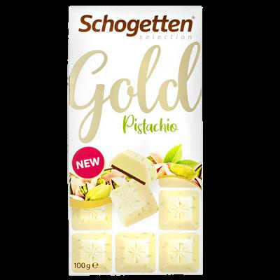 шоколад SCHOGETTEN GOLD White Pistachio 100 г 1уп. х 15шт.