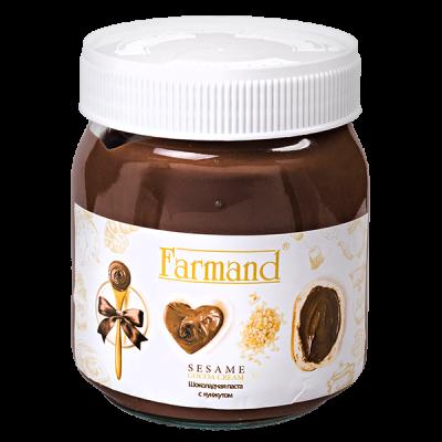 шоколадная паста FARMAND с кунжутом 330 г 1 уп.х 12 шт.
