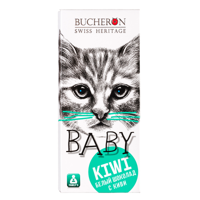 шоколад BUCHERON BABY Белый с Киви 50 г 1 уп.х 10 шт.