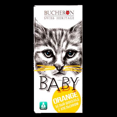 шоколад BUCHERON BABY Белый с Апельсином 50 г 1 уп.х 10 шт.