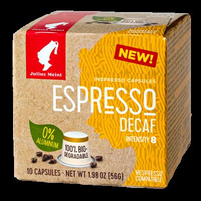 кофе капсулы Julius Meinl BIO ESPRESSO DECAF 1уп х  10 капсул