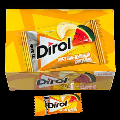жевательная резинка DIROL арбузно-дынный коктейль 1 уп.х 100 шт.