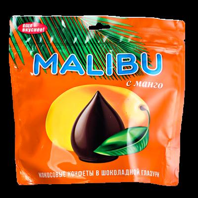конфеты MALIBU кокосовые с МАНГО в шоколадной глазури 140 г 1 уп.х 10 шт.