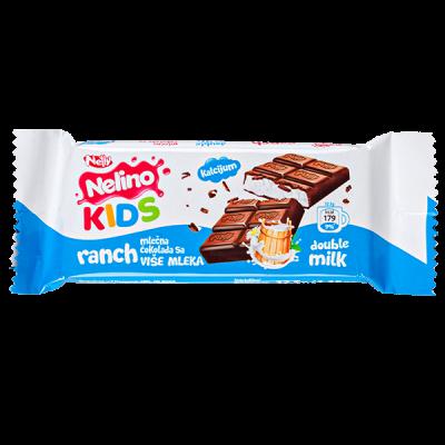 шоколад Nelino KIDS RANCH Double Milk 32.5 г 1уп.х 44шт
