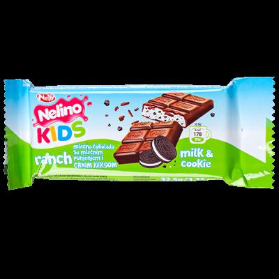 шоколад Nelino KIDS RANCH Milk & Cookie 32.5 г 1уп.х 44шт