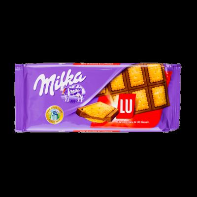 шоколад Милка Печенье Лу 87 г 1 уп.х 18 шт.