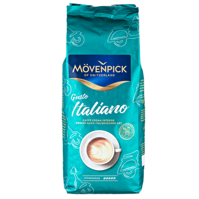 кофе MOVENPICK GUSTO ITALIANO  1 кг зерно 1 уп.х 4 шт.