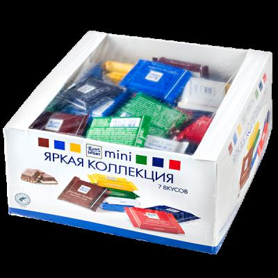 шоколад Риттер Спорт Mini Яркая коллекция 7 вкусов 1400 г 1 уп.х 4 шт.