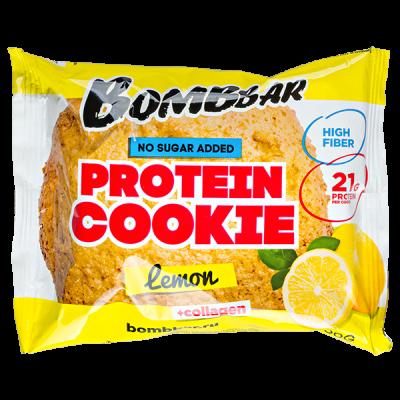 Печенье Bombbar протеиновое с коллагеном Lemon 60 г 1 уп.х 10 шт.