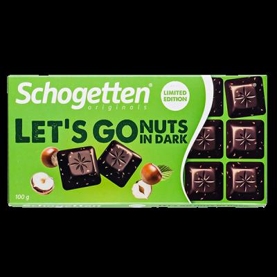 шоколад SCHOGETTEN LET'S GO NUTS IN DARK 100 г 1уп. х 15шт.