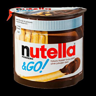 ореховая паста Nutella с хлебными палочками 52 г 1 уп.х 12 шт.