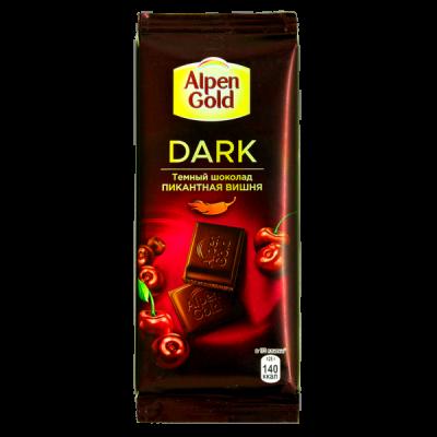 шоколад Альпен Гольд Дарк Пикантная Вишня 85 г 1 уп х 21 шт