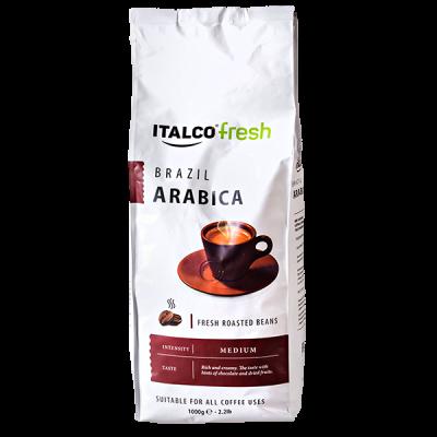 кофе ITALCO BRAZIL ARABICA 1 кг зерно 1 уп.х 6 шт.