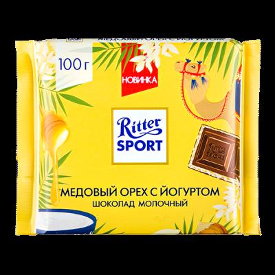 шоколад Риттер Спорт Медовый орех с йогуртом 100 г 1 уп.х 12 шт.