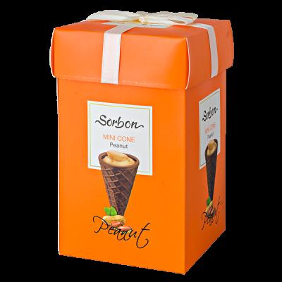 конфеты SORBON MINI CONE Peanut 200 г 1 уп.х 9 шт.