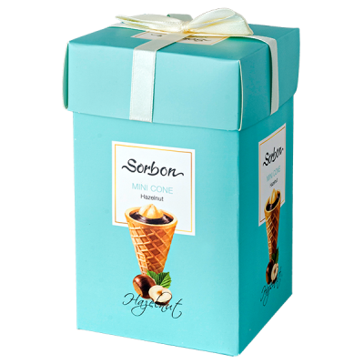 конфеты SORBON MINI CONE Hazelnut 240 г 1 уп.х 9 шт.