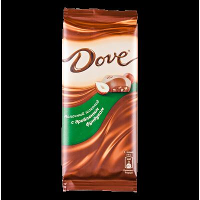 шоколад DOVE дробленный фундук 90 г 1 уп.х 16 шт.