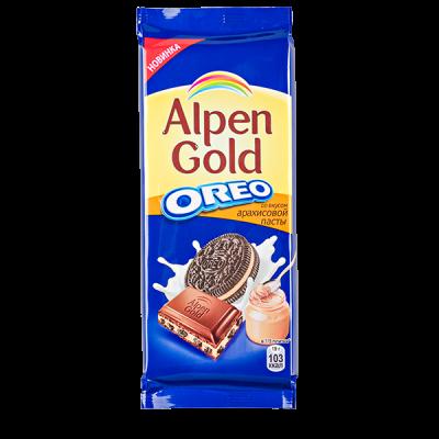 шоколад Альпен Гольд Орео Арахисовая Паста  95 г 1уп.х 19шт.