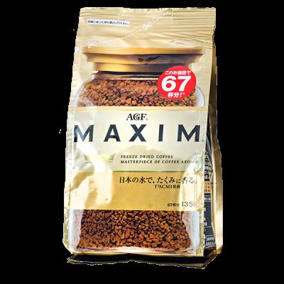 кофе AGF MAXIM GOLD растворимый 135 г м/у