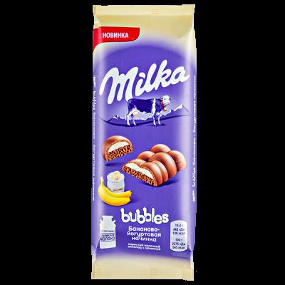 шоколад Милка Баблс Банан йогурт 92 г 1 уп.х 16 шт.
