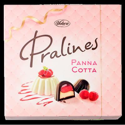 конфеты VOBRO PRALINES PANNA COTA 129 г 1 уп.х 12 шт.