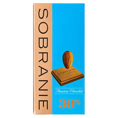 шоколад SOBRANIE 30% Молочный с Орехами 90 г 1уп.х 10шт