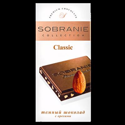 шоколад SOBRANIE 50% Темный с Орехами 90 г 1уп.х 10шт