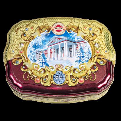 чай HILLTOP волнистая банка 'Зимняя усадьба' ж/б 100 г 1 уп.х 12 шт.