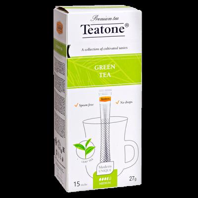 чай TEATONE 'GREEN' 15 стиков 1 уп.х 12 шт.