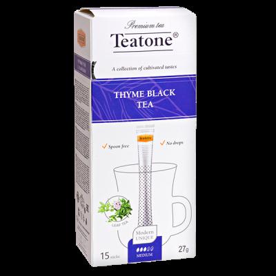 чай TEATONE 'THYME BLACK' 15 стиков 1 уп.х 12 шт.