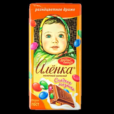 шоколад Аленка Сладкая мозаика 90 г 1уп.х 15 шт.